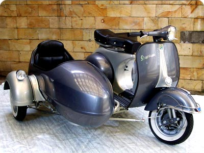 piaggio vespa scooter and sidecar. Black Bedroom Furniture Sets. Home Design Ideas